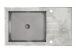 Zlewozmywak szklany z grafika Beton