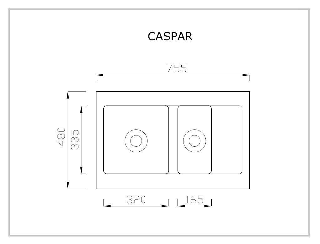 CASPAR rysunek techniczny
