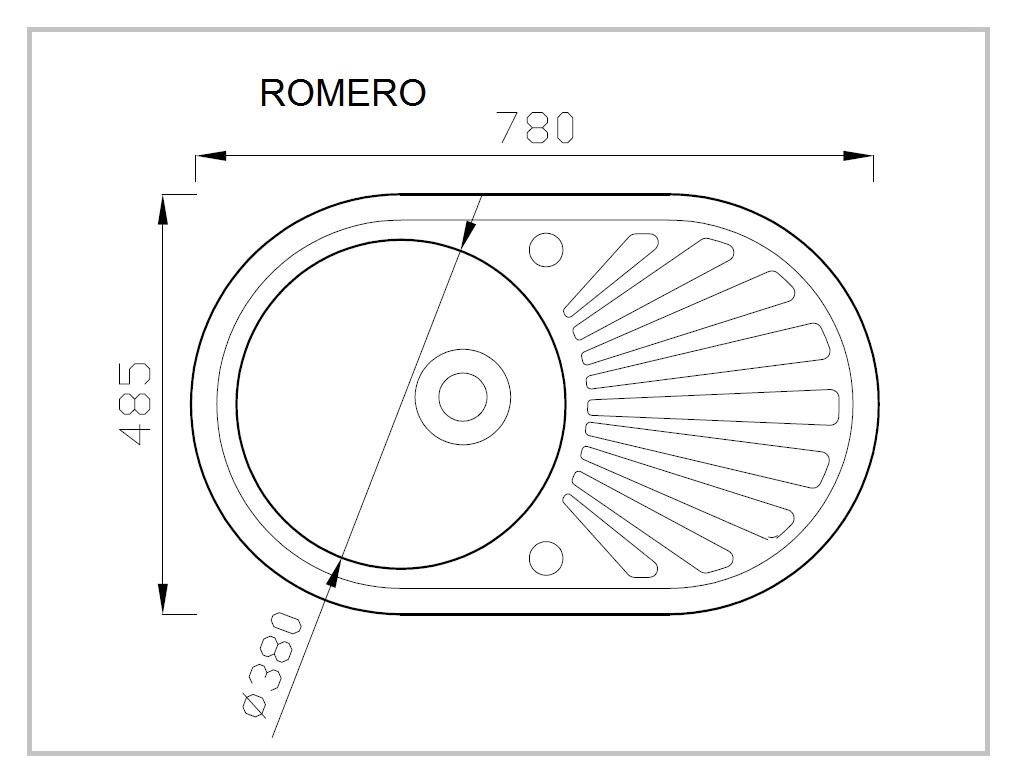 ROMERO rysunek techniczny