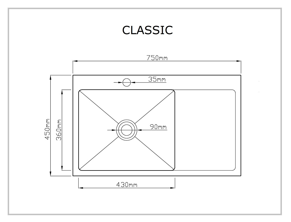 STEEL LINE CLASSIC rysunek techniczny