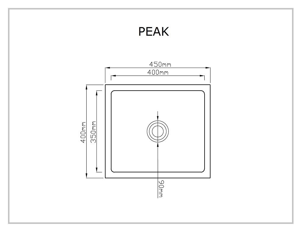 STEEL LINE PEAK rysunek techniczny