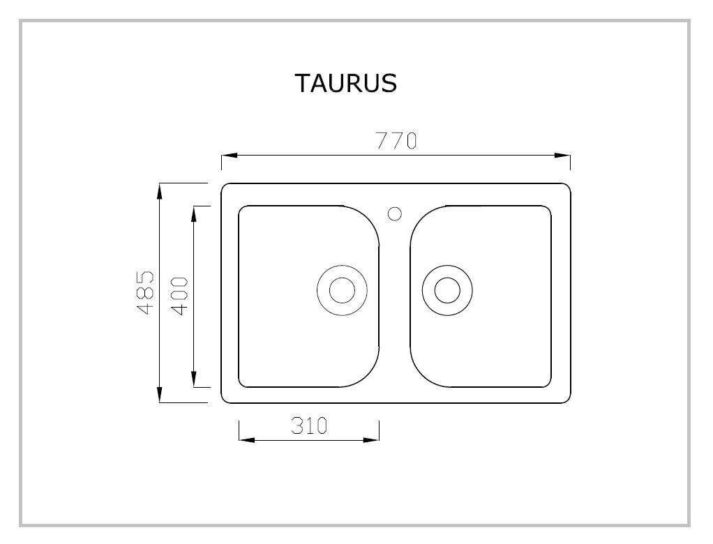 TAURUS rysunek techniczny